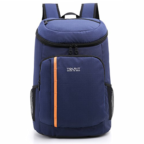 TOURIT Insulated Cooler Backpack 28 Cans Lightweight Backpack with Cooler Leak-proof Soft Cooler Bag Large Capacity 28L for Men Women to Picnics, Camping, Hiking, Beach, Park or Day Trips