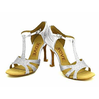 Blå Sølv krænger sort Guld Sølv Personlig tilpasselig Dansesko Rød Salsa latino HqtWHpR7
