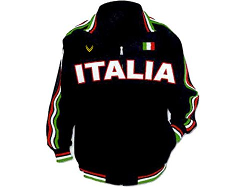Heavy Track Jacket - Vipele Italian Track Jacket, Soccer Jacket, Black (XL)