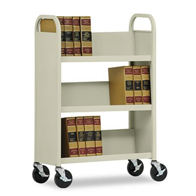 Edsal BT3L311343-07 Single-Sided Work Cart, Three Shelf in Putty -