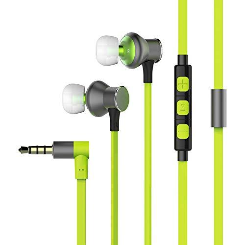 ZJY Auricular con Cable, audífono de Grafito con Oreja controlada, Clavija de 3,5 mm de diámetro con Recubrimiento Nano...