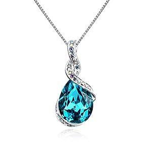 "OSIANA ""Ocean Star Drop-Tear Swarovski Crystal Pendant Necklace Fashion Jewelry Gifts Women"