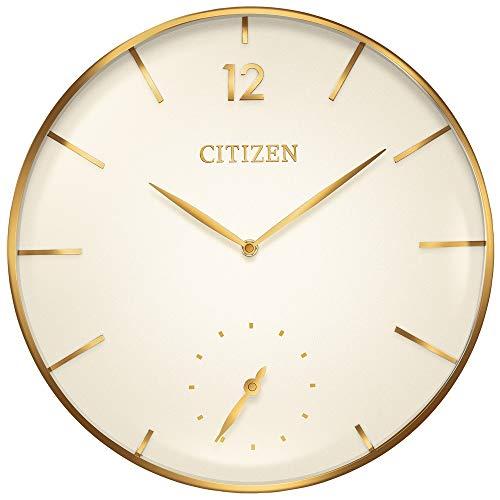 Citizen CC2034 Gallery Wall Clock, Gold-Tone (Citizen Wall Clock)