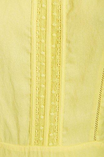 Robe Color Block Jaune Femme