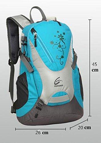 Outdoor Klettern Reise Tasche Damen und Herren Wasserdicht Tourismus Mummy Ride Schultern kleinen Rucksack Licht 25L orange pGzWmm1tV