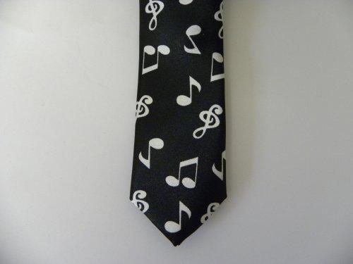 music notes tie skinny necktie jazz musician orchestra