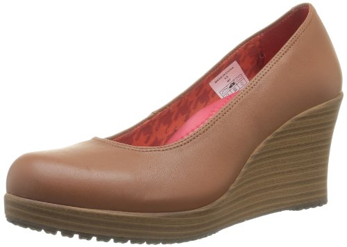 Crocs Mujeres A-leigh Closed Toe Wedge Canela / Nuez