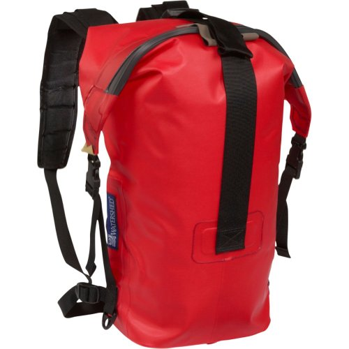 Watershed Big Creek Waterproof Backpack (Red), Outdoor Stuffs
