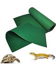 Hamiledyi 2 PCS Reptile Carpet Mat Lizards Terrarium Substrate Liner Bearded Dragon Bedding Supplies for Snake Tortoise Gecko Chamelon 39'' x 20'' (Green)