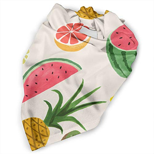 Pet Scarf Dog Bandana Bibs Triangle Head Scarfs Fruits Pineapple Leaf Accessories for Cats Baby Puppy