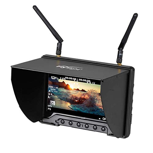 - 5.8Ghz FPV Monitor Black Pearl Flysight RC801 FPV Diversity Monitor7 Inch FPV Ground Monitor with DVR and HDMI Perfect FPV Performance Monitor for DJI Phantom Drone Inspire (SMA ANT)