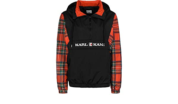 Karl Kani Check W Chaqueta Cortavientos Black/Red/Green ...