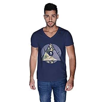 Creo Nyc Liberty T-Shirt For Men - L, Navy Blue
