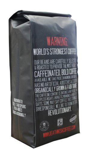 Death Wish Ground Coffee, The Worlds Strongest Coffee, Fair Trade and USDA Certified Organic, 16 Ounce