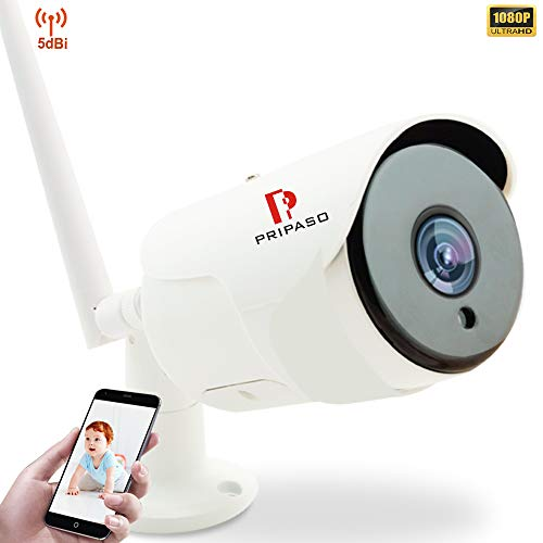 Outdoor Security Camera Wireless WiFi -1080P WiFi IP Home Surveillance Outdoor Wireless Camera with IR Night Vision Wired WiFi Security Camera,2-Way Audio,Stronger WiFi,Motion Detection -iOS, Android