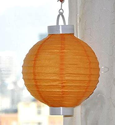 Pack of 3 Lighted Battery Operated Orange Garden Patio Chinese Paper Lanterns 8""