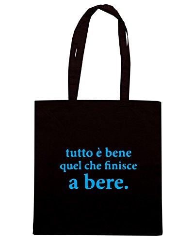 T-Shirtshock - Bolsa para la compra BEER0299 Tutto-e-bene Negro