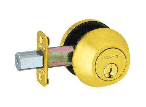 Cylinder Bright Brass (Dexter by Schlage JD60V605 Single-Cylinder Deadbolt, Bright Brass)