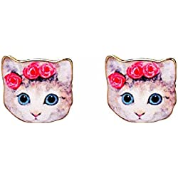 Coachella Purrincess Cat Stud Earrings