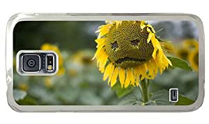 Hipster personalized Samsung Galaxy S5 Cases Sad Sunflower PC Transparent for Samsung S5
