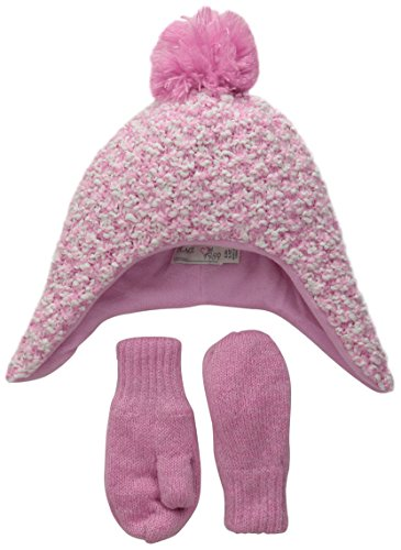 The Children's Place Little Girls and Toddler Popcorn Knit Set, Sparkle Pink, Large/4T-5T