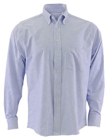 Edwards Garment Men's Long Sleeve Oxford Shirt Xxx-Large Blue Stripe - Edwards Button Down Oxford Shirt