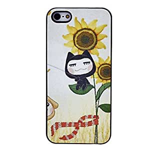 Sunflower Pattern PC Hard Case for iPhone 5/5S
