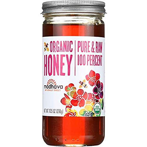 Madhava Honey Organic Raw Honey, 10.5 oz