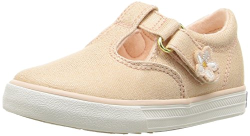 Keds Daphne T-Strap Sneaker (Toddler/Little Kid), Metallic Rose Gold, 7 M US Toddler
