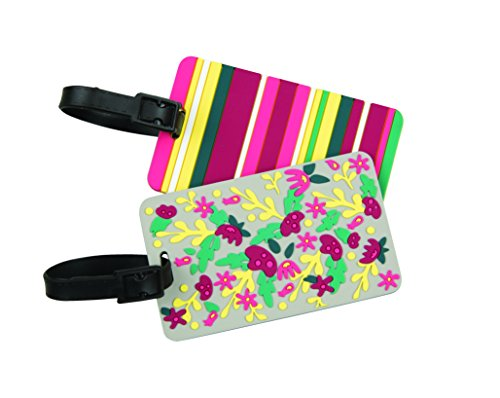 Travelon Set Of 2 Luggage Tags, - Luggage Floral Tag
