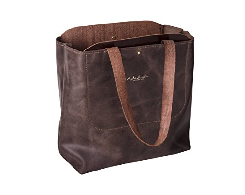 Women Leather Tote Bags - Brown Shoulder Bags - Everyday Large Carry All Bag - Tote Bag - Leather Handbag - Mac book Bag - Gifts For Her ()