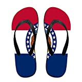 MISSOURI FLAG Funny Flip Flops For Children Adults Men And Women Beach Sandals Pool Party Slippers