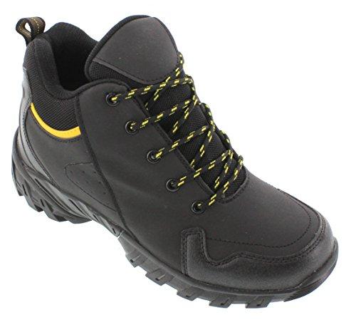 Calden–fd0339,1cm größer die Höhe Steigerung Aufzug Schuhe (schwarz Schnürer Sneakers