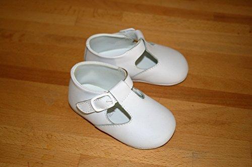 Premiers jours Blanc Unisexe Chaussures à semelles Landau souple Taille 3–12–18mois