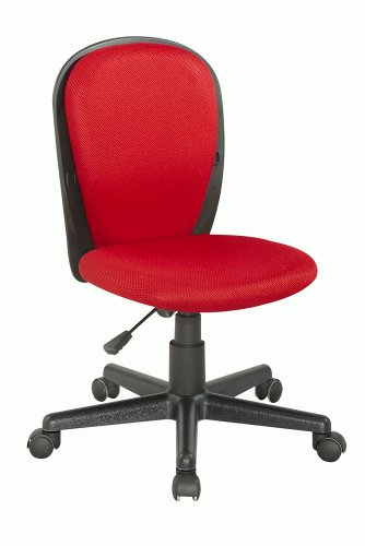 Chintaly Imports Youth Desk Chair with Fabric Back and Seat Red