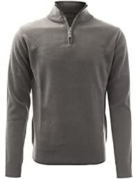 Men's Zip up Mock Neck and Button Down Pullover Sweater