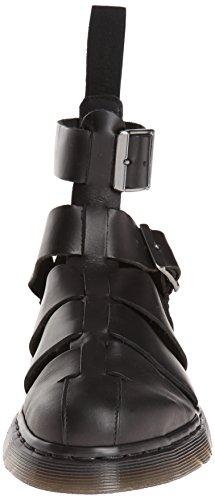 Dr Scarpe Brando con caviglia Nero GERALDO Martens BLACK alla cinturino TvPxTgnw