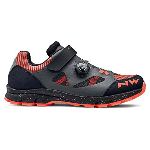 NORTHWAVE TERREA PLUS Zapatos de bicicleta de montaña ANTHRA / LOBSTER ORANGE