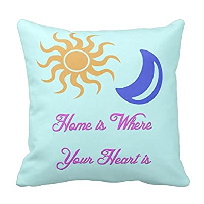 Home Is Where Your Heart Is Sun And Moon Throw 18*18 pillow Case