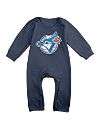 Toronto Blue Jays BABY Cartoon Long Sleeves Baby Onesies Bodysuit For Little Kids