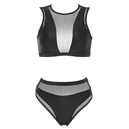 Black Mesh Bikini Set in Australia - 8