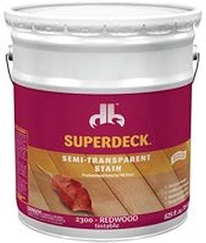 Superdeck Deck And Siding Wood Stain Oil Formula Exterior Redwood Semi Transparent 5 Gl