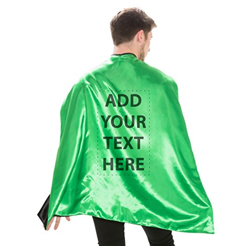 Reversible Adult Green and Green Superhero Custom Personalized Costume Cape (Adult)]()