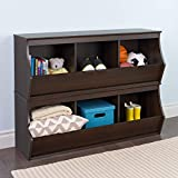 Product review for Prepac Fremont Stacked 6-Bin Storage Cubby, Brown