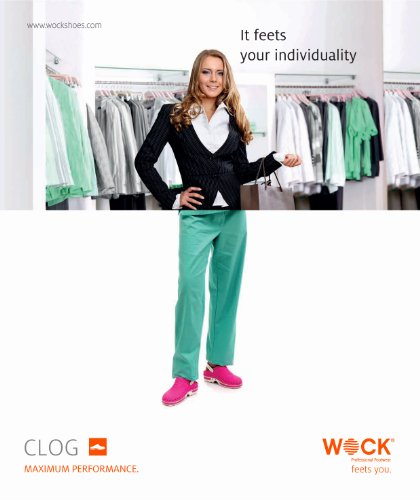 Clog - WOCK Professional Footwear - Sterilizable; Antistatic; Antislip; Shock Absorption White/Orange maSzkCEopE