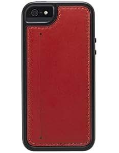 Skech KAMEO Leather - fundas para teléfonos móviles Negro, Rojo
