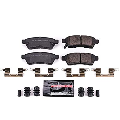 Power Stop Z23-1100, Z23 Evolution Sport Carbon-Fiber Ceramic Rear Brake Pads: Automotive