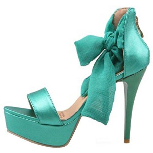 Verde Sandali A Spillo Fashion Scarpe Da Open Donna Coolcept Allacciati Toe R8TxvwqvZ7