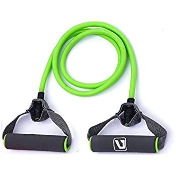 Liveup SPORTS Toning Tube Resistance Bands / Cord Pulley TPR Foam For Exercise Fitness Pilates Strength Training with Foam Handles Green
