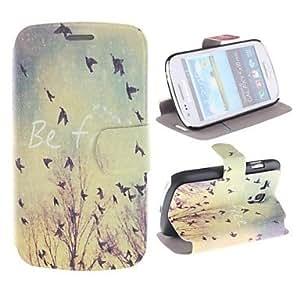 birdie atardecer cuerpo completo estuche de cuero pu con ranura para tarjeta para mini i8190 samsung galaxy s3